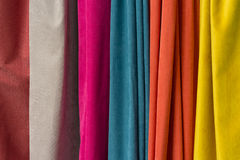 Jaws of colorful fabric Royalty Free Stock Photos