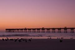 Jax海滩在黎明 免版税库存照片
