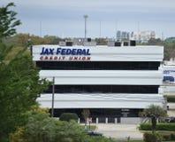 Jax Federaal Credit Union, Jacksonville, Florida royalty-vrije stock foto's