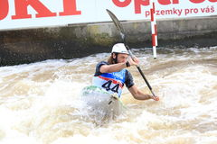 Jaxon Merritt - water slalom world championship Royalty Free Stock Photos