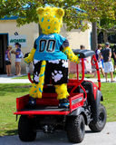 Jaxson, Jacksonville Jaguars mascot. Jaxson the mascot of the Jacksonville Jaguars gets a ride on an ATV Stock Image