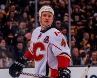 Jay Bouwmeester Calgary flammar #4 Arkivbild