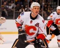 Jay Bouwmeester, Calgary flammt #4 Stockfotografie