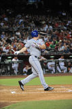 Jay Bruce. New York Mets outfielder Jay Bruce batting against Robbie Ray and the Arizona Diamondbacks.  (August 15, 2016 Stock Image