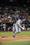 Jay Bruce. New York Mets outfielder Jay Bruce batting against Robbie Ray and the Arizona Diamondbacks.  (August 15, 2016 Royalty Free Stock Photos