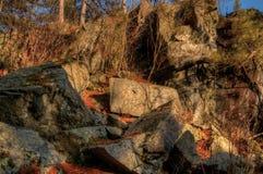Jay Cooke State Park is op het St Louis River zuiden van Duluth i royalty-vrije stock afbeelding