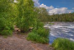 Jay Cooke State Park is op het St Louis River zuiden van Duluth i stock fotografie
