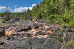 Jay Cooke State Park is op het St Louis River zuiden van Duluth i royalty-vrije stock foto's