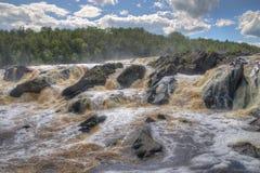 Jay Cooke State Park is op het St Louis River zuiden van Duluth in Minnesota royalty-vrije stock afbeeldingen