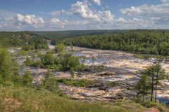 Jay Cooke State Park is on the St. Louis River south of Duluth in Minnesota stock image