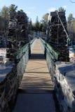 Jay Cooke State Park Swinging-Brug royalty-vrije stock foto's