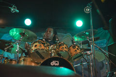 Jay Davenport on the drums Royalty Free Stock Photography