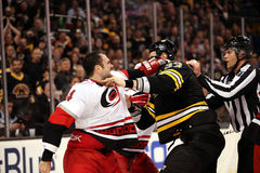 Jay Harrison fights Zdeno Chara Royalty Free Stock Images