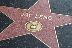 Jay Leno's Hollywood Star Stock Images