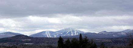Jay Peak in Vermont. Viewed form Sutton, Quebec, Canada royalty free stock images