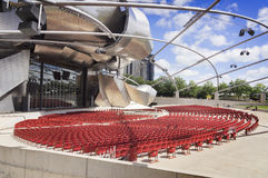 Jay Pritzker Pavilion (Chicago) Stock Afbeelding