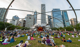 The Jay Pritzker Pavilion in Chicago Stock Photos