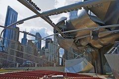 Jay Pritzker Pavilion. In Chicago Millennium Park - Chicago Downtown. Architecture Photo Collection Stock Photo