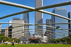 Jay Pritzker Pavilion en Chicago imagenes de archivo