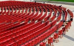 Jay Pritzker Pavilion en parc de millénaire, Chicago Image libre de droits