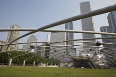 Jay Pritzker Pavilion in Millenium park Chicago Stock Photo