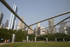 Jay Pritzker Pavilion in Millenium park Chicago Royalty Free Stock Photography