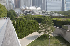 Jay Pritzker Pavilion in Millenium park Chicago Royalty Free Stock Image