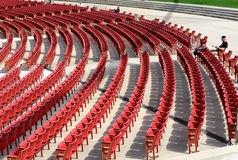Jay Pritzker Pavilion in Millennium park, Chicago Stock Photo