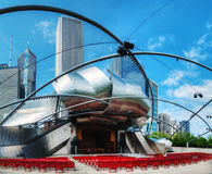 Jay Pritzker Pavilion in Millennium Park in Chicago Royalty Free Stock Image