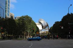 Jay Pritzker Pavilion, parque del milenio, Chicago imágenes de archivo libres de regalías