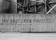Jay Pritzker Pavilion Sign Stock Photography