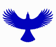 Jay Silhouette azul, vector Fotos de archivo