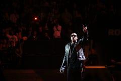 Jay-z im Konzert lizenzfreie stockbilder