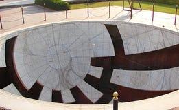 Jaya Prakash Yantra - un instrumento astronómico en el observatorio antiguo, Jantar Mantar, Jaipur, Rajasthán, la India Imagenes de archivo