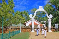 Jaya Sri Maha Bodhi, всемирное наследие ЮНЕСКО Шри-Ланки Стоковая Фотография