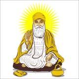 Jayanti feliz do gurunanak ilustração sikh do vetor do guru fotos de stock