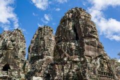 Jayavarman国王石雕象VII 库存图片