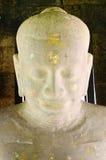 Jayavarman VII staute in phimai stone castle Royalty Free Stock Photography