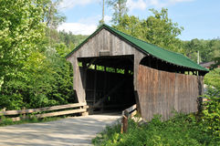 Jaynes Bridge. Jaynes or Codding Hollow covered bridge, also know as the Kissing Bridge, in Waterville, VT stock photo