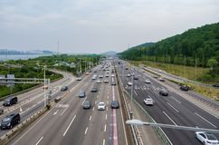Jayuro freeway in the western Seoul, South Korea stock image