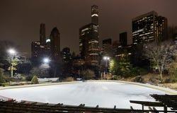 Jazda na łyżwach lodowisko, centrala parkowy nowy York obrazy stock