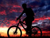 jazda na rowerze Obraz Royalty Free