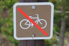 jazda na rowerze bez znaku Fotografia Stock