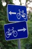 jazda na rowerze znaki drogowe Zdjęcia Stock