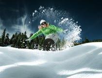 Jazda na snowboardzie Fotografia Royalty Free
