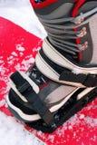 Jazda na snowboardzie but zdjęcie royalty free