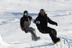 jazda na snowboardzie Zdjęcia Royalty Free