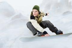 jazda na snowboardzie Obrazy Royalty Free