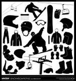Jazda na snowboardzie elementów wektoru set Obrazy Stock