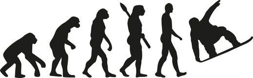 Jazda na snowboardzie ewolucja ilustracji